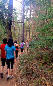 yoga hiking trail